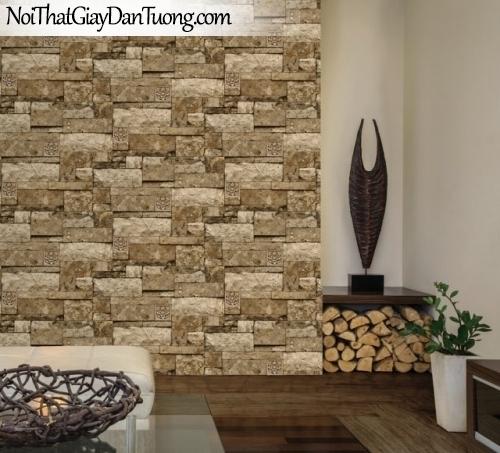 Giấy dán tường giả gạch, giả đá, 3D, Giấy dán tường 3D