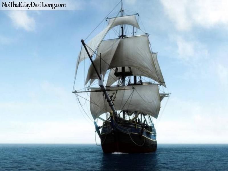 Tranh dán tường Thuyền và Biển DA 101