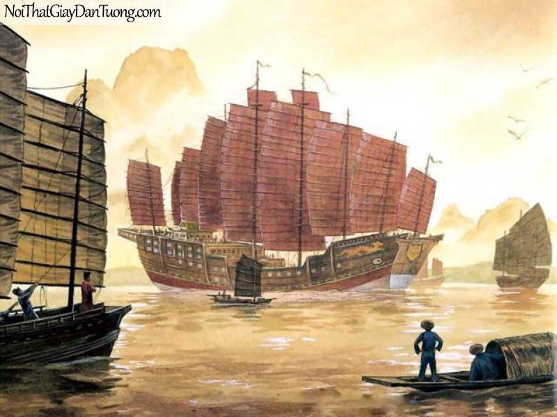 Tranh dán tường Thuyền và Biển DA106