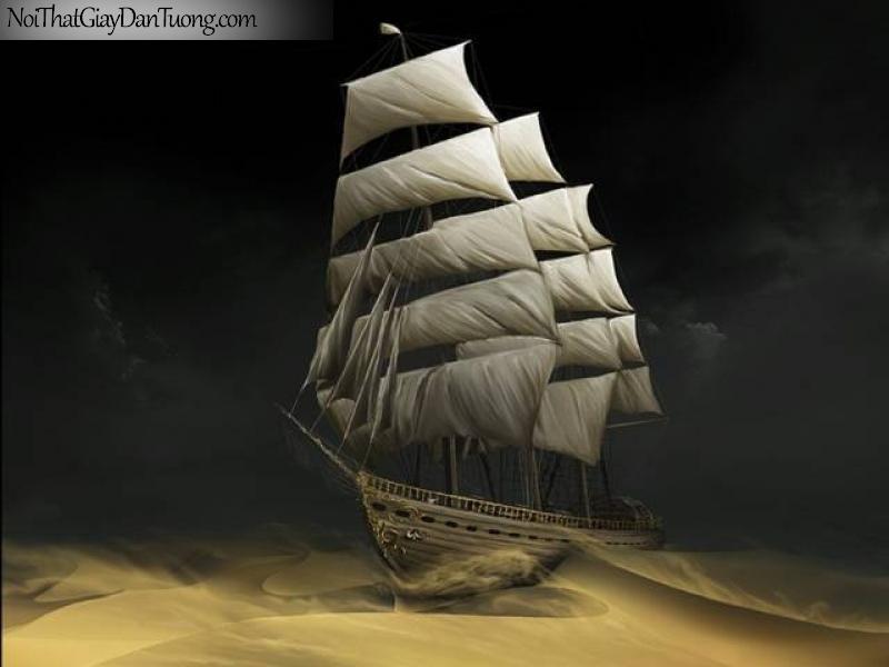 Tranh dán tường Thuyền và Biển DA110