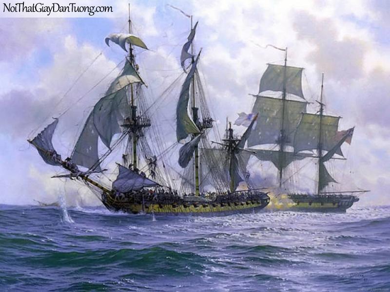 Tranh dán tường Thuyền và Biển DA112