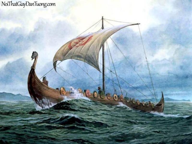 Tranh dán tường Thuyền và Biển DA113