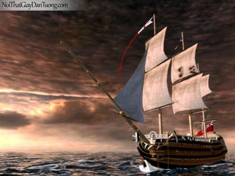 Tranh dán tường Thuyền và Biển DA114