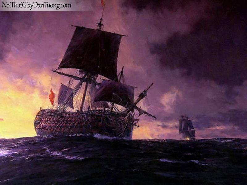 Tranh dán tường Thuyền và Biển DA119