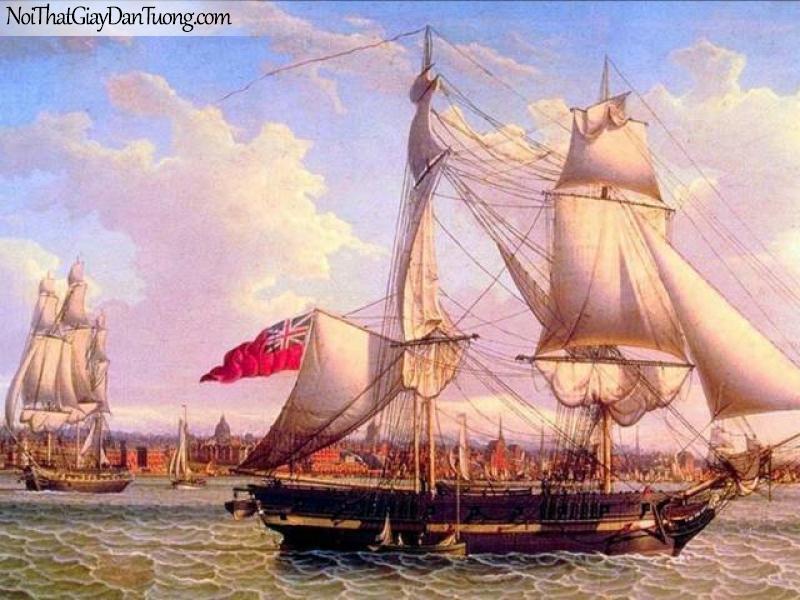 Tranh dán tường Thuyền và Biển DA127