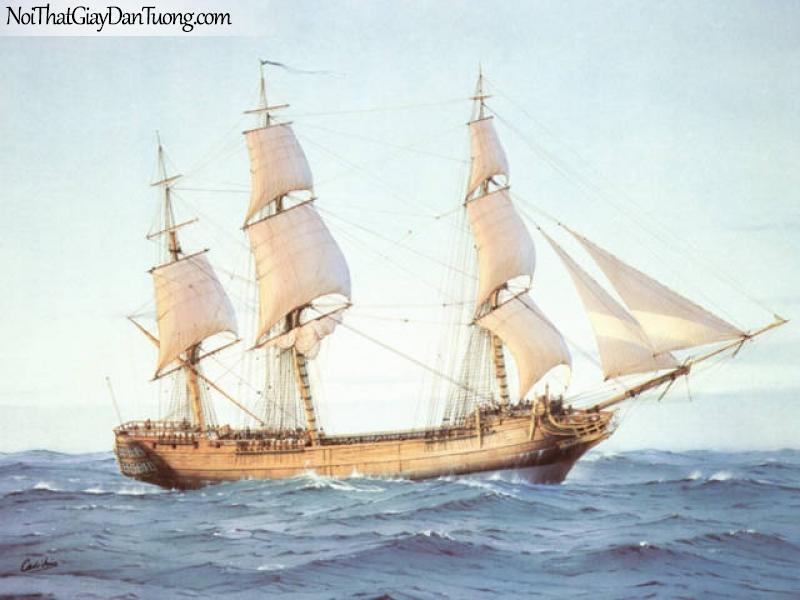 Tranh dán tường Thuyền và Biển DA128