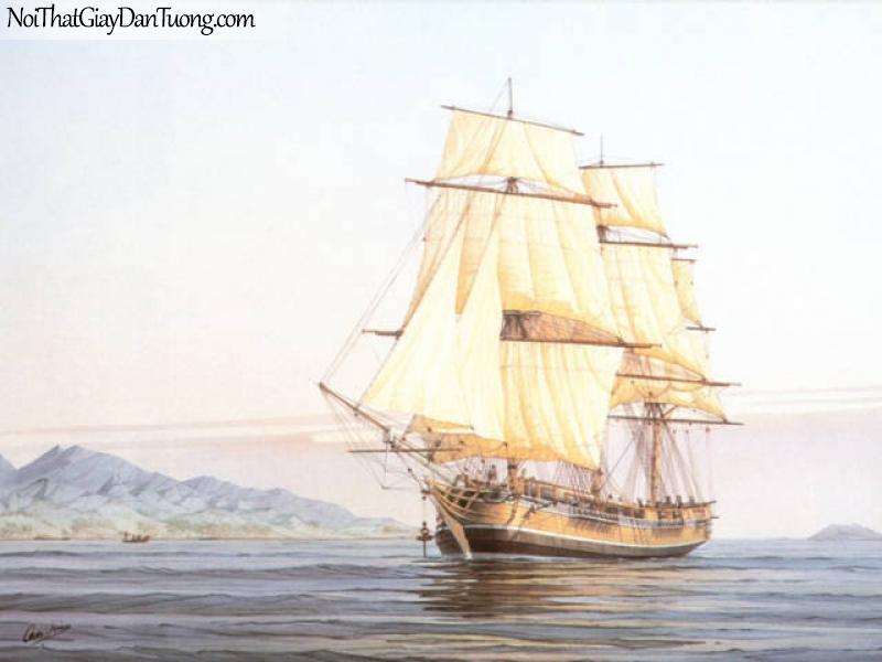 Tranh dán tường Thuyền và Biển DA129