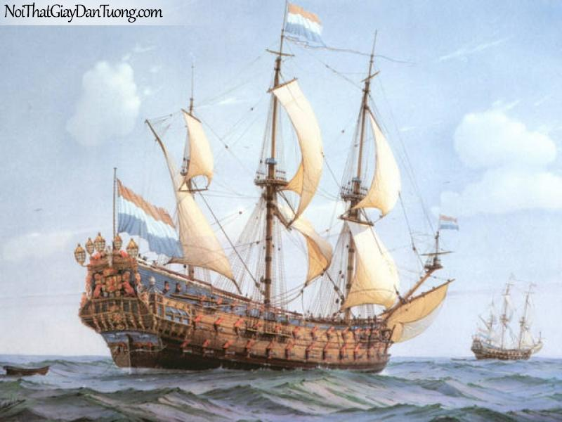 Tranh dán tường Thuyền và Biển DA130
