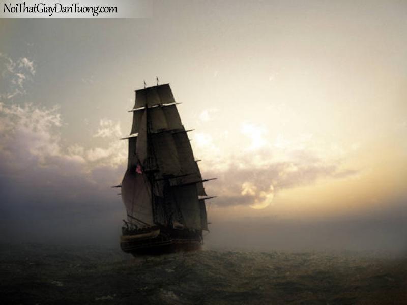 Tranh dán tường Thuyền và Biển DA133