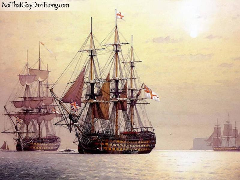 Tranh dán tường Thuyền và Biển DA137