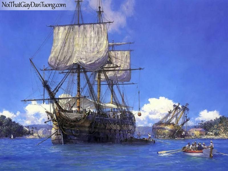 Tranh dán tường Thuyền và Biển DA138