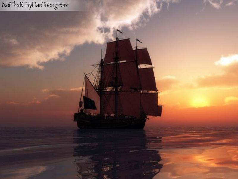Tranh dán tường Thuyền và Biển DA140