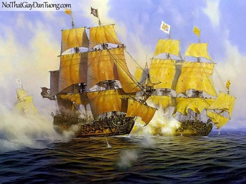 Tranh dán tường Thuyền và Biển DA141