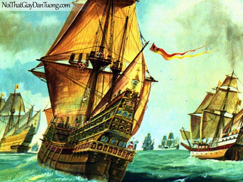Tranh dán tường Thuyền và Biển DA143