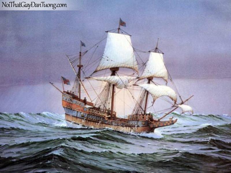 Tranh dán tường Thuyền và Biển DA144