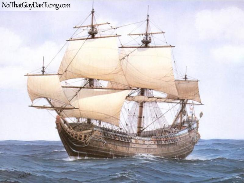 Tranh dán tường Thuyền và Biển