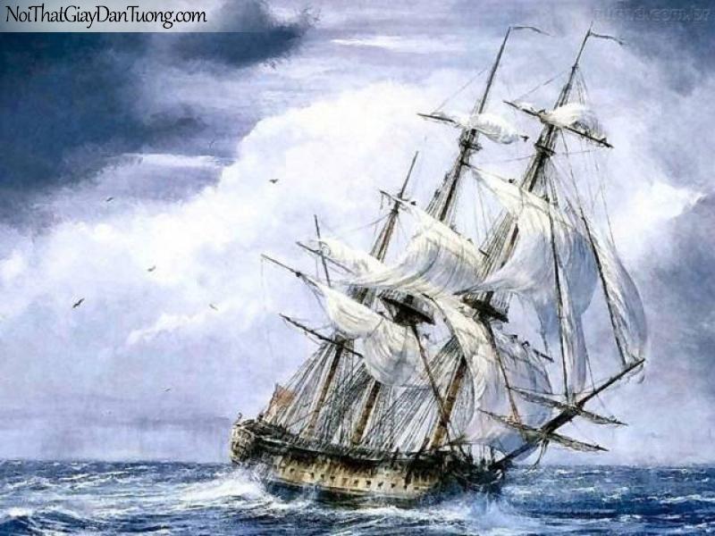 Tranh dán tường Thuyền và Biển DA146