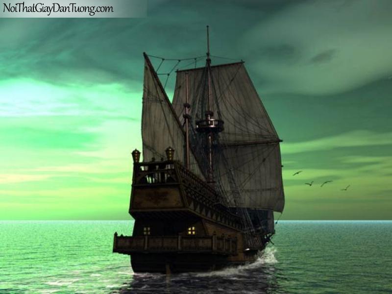 Tranh dán tường Thuyền và Biển DA155