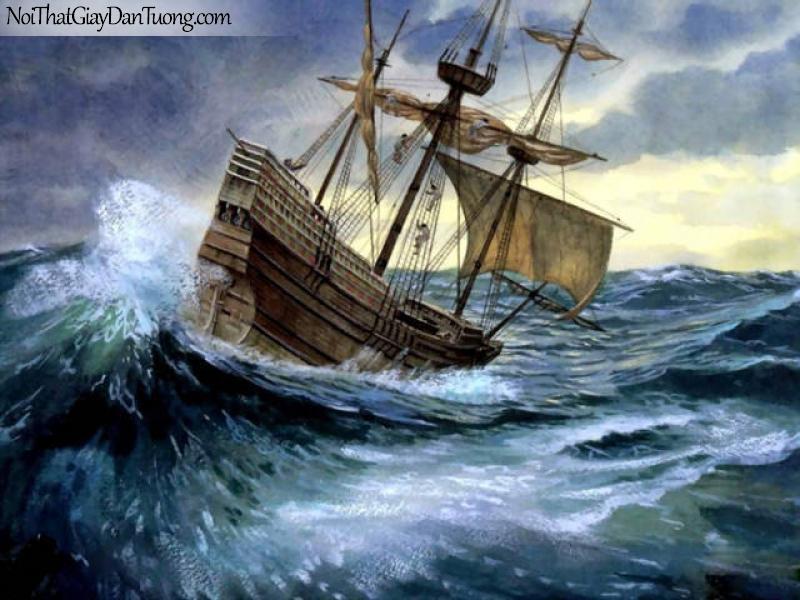 Tranh dán tường Thuyền và Biển DA159