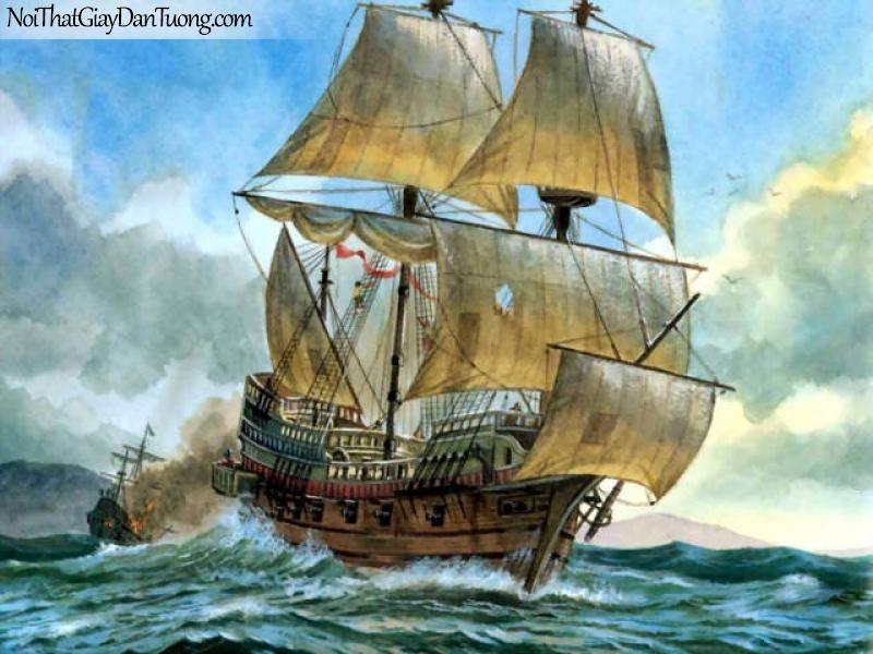 Tranh dán tường Thuyền và Biển DA160