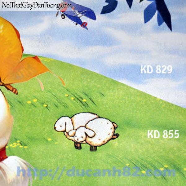Giấy dán tường trẻ em Kidland KD829-855