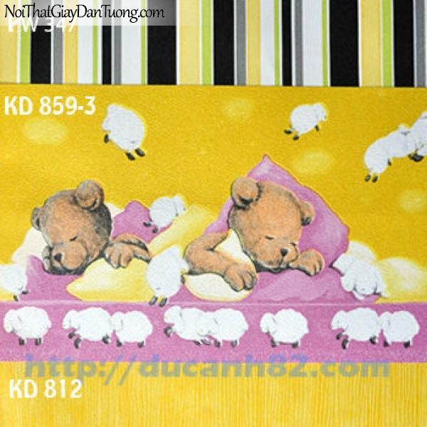 Giấy dán tường trẻ em Kidland KD859-3