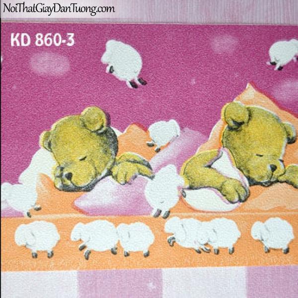 Giấy dán tường trẻ em Kidland KD860-3