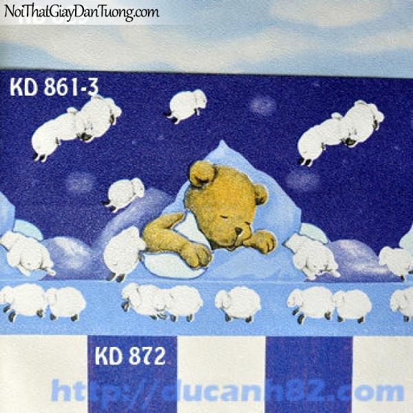 Giấy dán tường trẻ em Kidland KD861-3 KD872