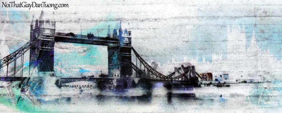 Tranh dán tường Komar (Đức) 4-315 | Cầu Tower Bridge Anh Quốc