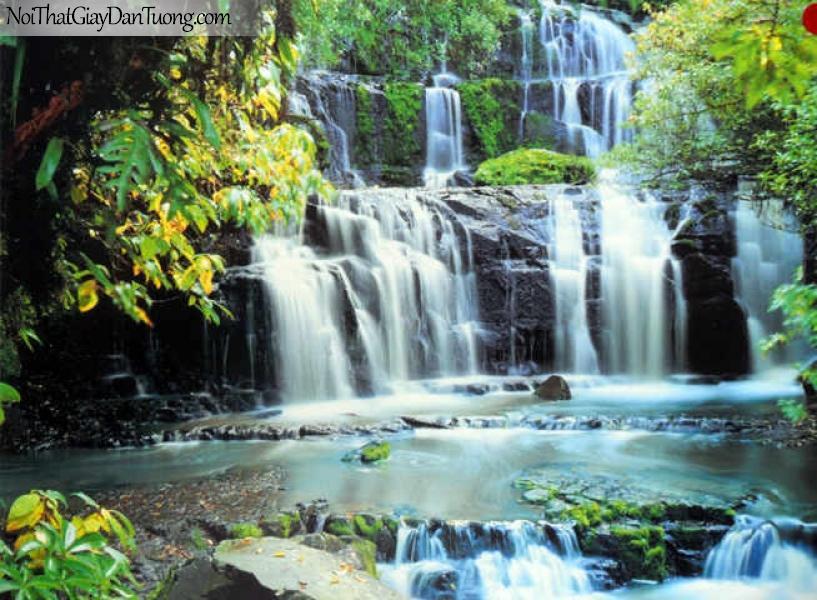 Tranh dán tường Komar (Đức) 8-256 | Thác nước đẹp trong rừng sâu