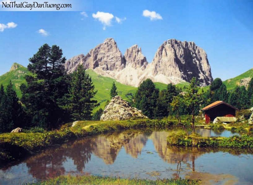 Tranh dán tường Komar (Đức) 8-9017 | cảnh sông núi rừng