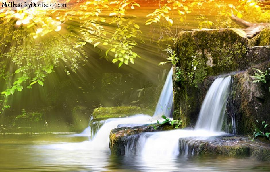 Tranh dán tường nghệ thuật, thác nước