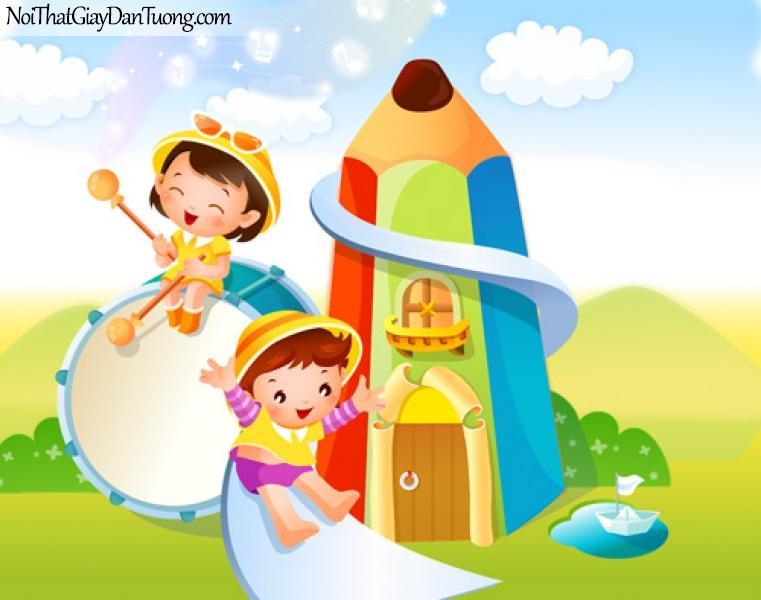 Tranh dán tường trẻ em đẹp