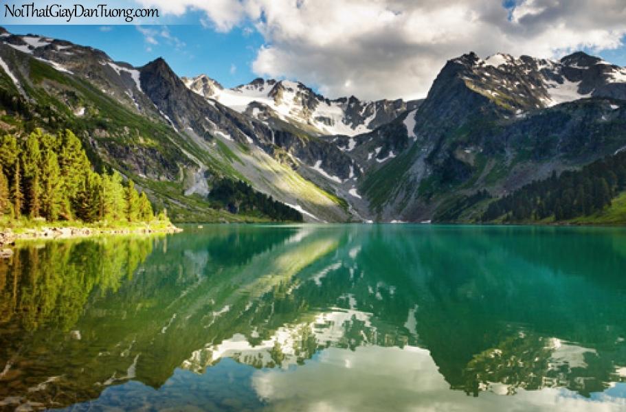 Tranh dán tường, Núi hồ hữu tình