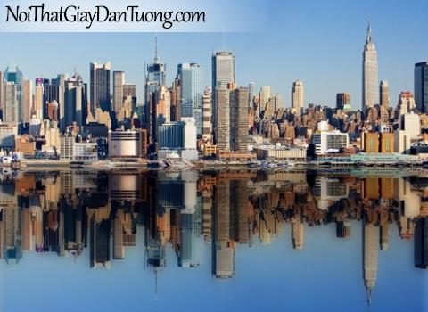 Quang cảnh New York Mỹ, Tranh dán tường phong cảnh đẹp