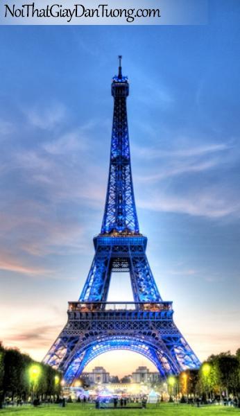 Tháp Eiffel at Paris, Tranh dán tường