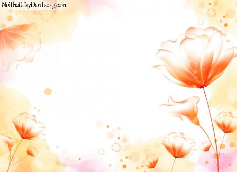 Tranh dán tường hoa, hoa văn họa tiết