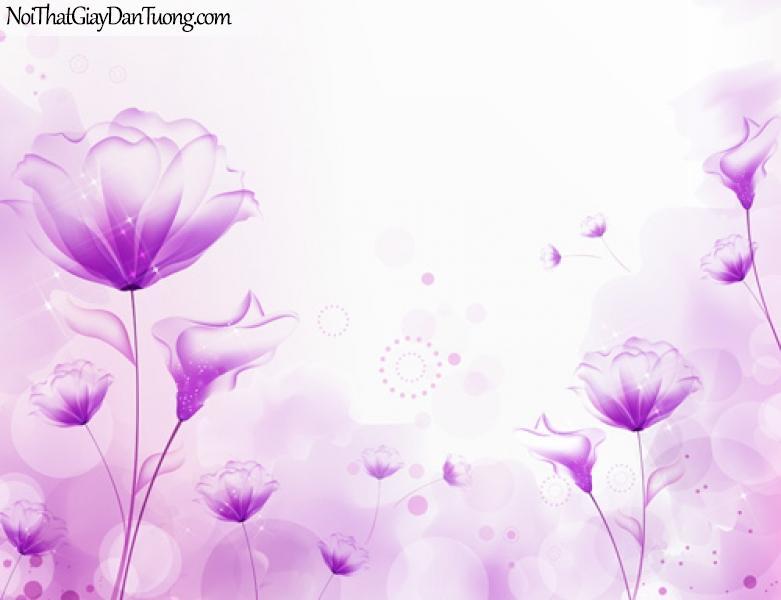 Tranh dán tường màu tím lãng mạn, thủy chung