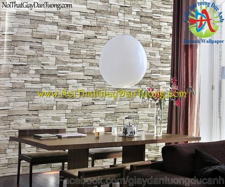 Phối cảnh - Giấy dán tường giả đá 3D - Stone Touch 85024-1