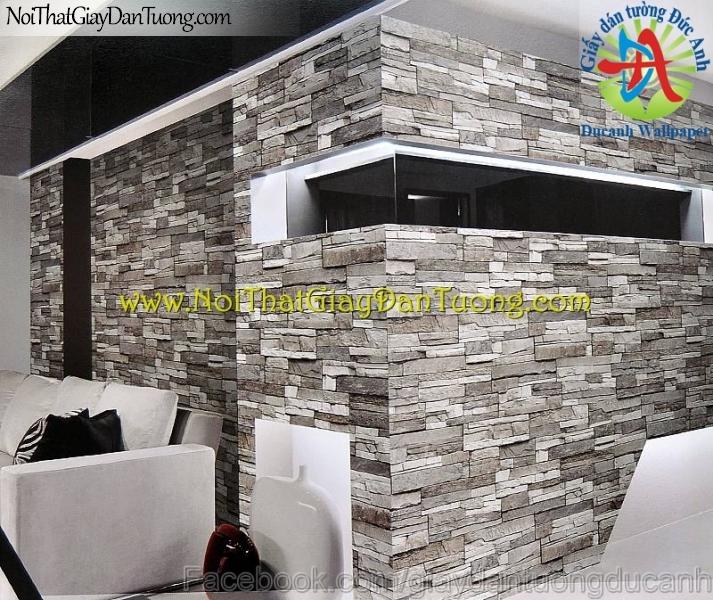 Phối cảnh - Giấy dán tường giả đá 3D - Stone Touch 85024-2