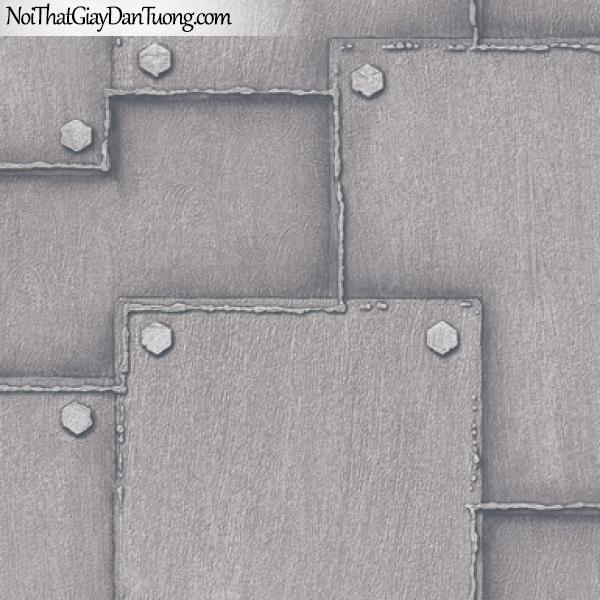 Giấy dán tường giả da, giả đá, giả lông thú, giả nệm (đệm), giả tre, giả sắt giả vải 8160-2
