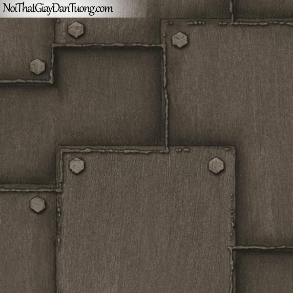 Giấy dán tường giả da, giả đá, giả lông thú, giả nệm (đệm), giả tre, giả sắt giả vải 8160-3