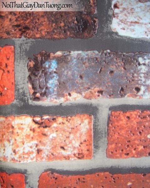 Thụy Sỹ - Giấy dán tường giả gạch - giay dan tuong gia gach AD1501