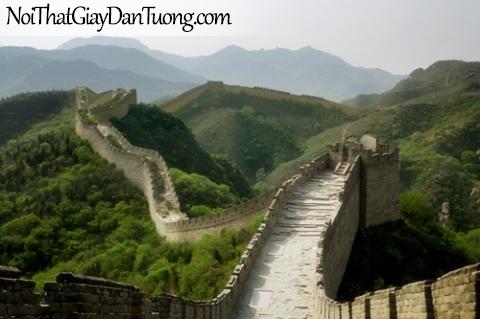 Tranh dán tường, cảnh núi non vạn lý trường thành DA0161