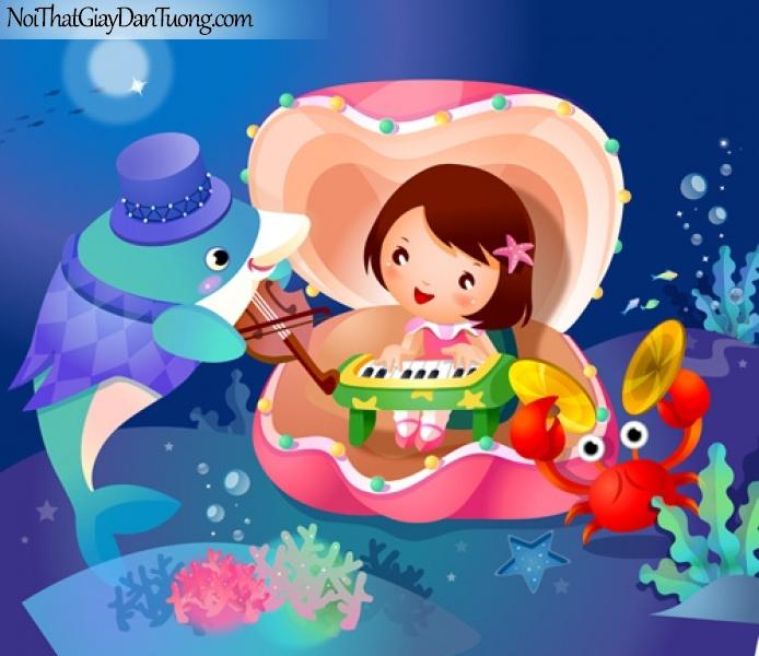 Tranh dán tương trẻ em, chơi đàn cùng bé DA4036
