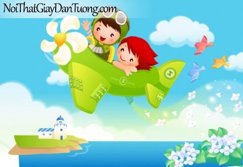 Tranh dán tường dành cho bé yêu, cùng bé bay vào bầu trời xanh DA4059