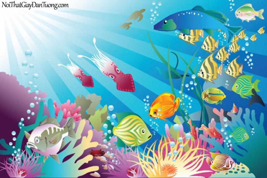 Tranh dán tường dành cho bé yêu, cùng bé khám phá đại dương DA4071