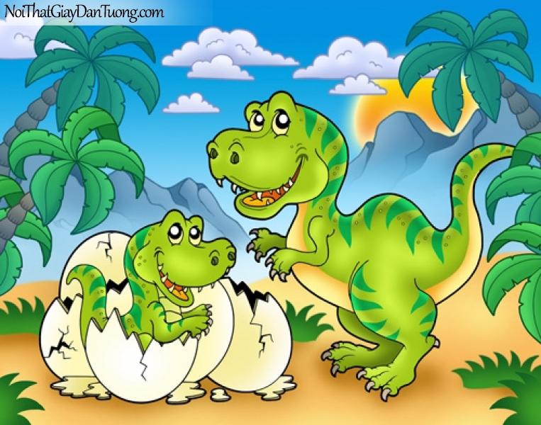 Tranh dán tường dành cho bé yêu, cùng bé khám phá thế giới của khủng long DA4085
