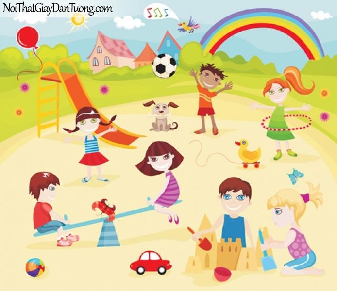 Tranh dán tường dành cho bé yêu, cùng bé vui chơi với bàn bè của bé DA4086