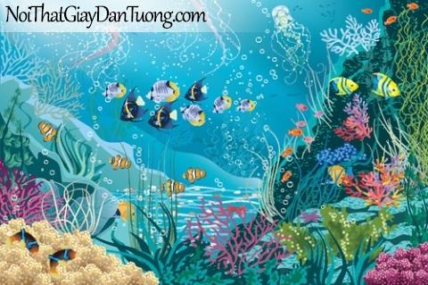 Tranh dán tường dành cho bé yêu, cùng bé khám phá đại dương bao la rộng lớn DA4121